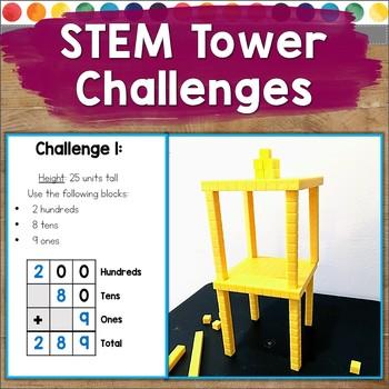 STEM Tower Block Building Challenges (Number Sense, Adding