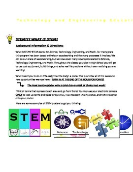 STEM: What is it? Poster Assignment