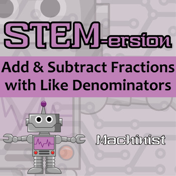 STEMersion -- Add & Subtract Fractions with Like Denominat