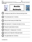 Paragraph Cut & Paste: Arctic Animals
