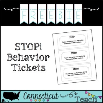 STOP! Behavior Ticket