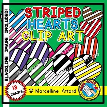 VALENTINE'S DAY CLIPART HEARTS: STRIPED HEARTS CLIPART: VA