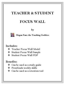STUDENT AND TEACHER FOCUS WALL