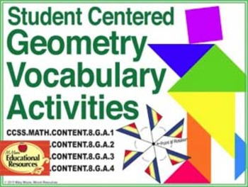 8th Grade Math - GEOMETRY - Vocabulary for Interactive Not