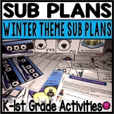 EMERGENCY SUB LESSON PLANS and ACTIVITIES for KINDERGARTEN