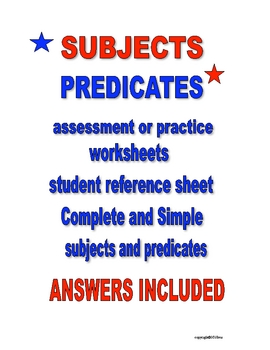 SUBJECT PREDICATE ACTIVITIES
