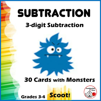 SUBTRACTION | 3-digit Subtraction | SCOOT! Game  |Regroupi