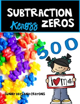 SUBTRACTION ACROSS ZEROS ON A GRID  Task  Cards and Worksh