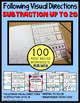 SUBTRACTION WORKSHEETS for Students with Autism with VISUA