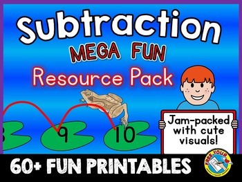 SUBTRACTION PRINTABLES: SUBTRACT WITHIN 10 & 20 (SUBTRACTI