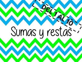 SUMAS Y RESTAS SENCILLAS 2