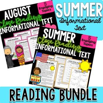 SUMMER BUNDLE! - Close Reading Informational Text, Compreh