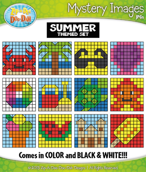 SUMMER Create Your Own Mystery Images Clipart Set