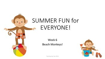 SUMMER FUN Review Pack - Week 6 Monkeys on the Beach