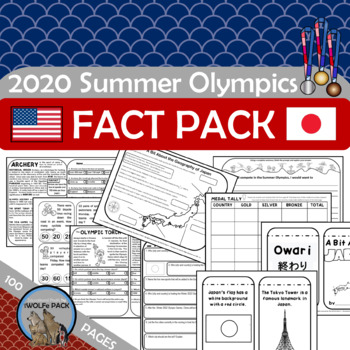 SUMMER OLYMPIC FUN FACT PACK Reading Passasges Writing Pro