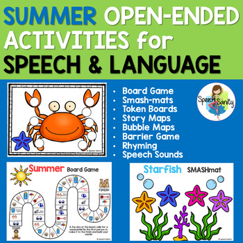 SUMMER Open Ended Activities for Speech and Language Therapy