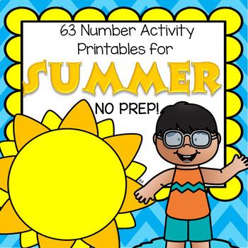 SUMMER Number Printables