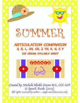 SUMMER SPEECH ARTICULATION COMPANION