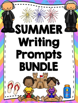 SUMMER WRITING BUNDLE--Summer Goals/Activities--Fourth of