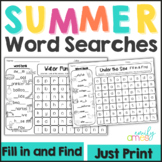 SUMMER Word Search: Fill-in-and-Find Phonics Puzzles (End