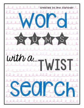 SUMS... with a Twist!  Word Search Collection