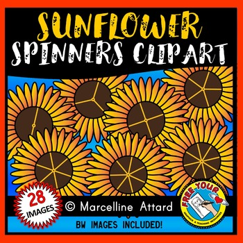 SUNFLOWER SPINNERS CLIPART: FALL CLIPART: SUNFLOWERS CLIPA