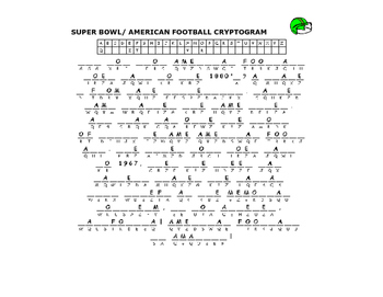 SUPER BOWL CRYPTOGRAM/ HAVE FUN!