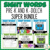 SUPER BUNDLE PreK & K (Dolch) Activity Sheets, PowerPoint