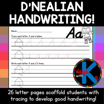 {SUPER CUTE} handwriting practice pages in Orton-Gillingha