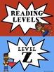 SUPER HERO READING LEVELS Clip Chart Tracker