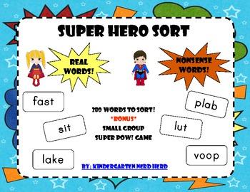 SUPER HERO SORT