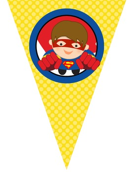 SUPER HERO - Triangle Banners, Create A Banner