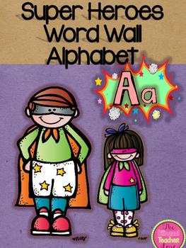 SUPER HERO WORD WALL ALPHABET