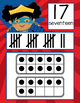 SUPER HERO theme - Number Line Banner, 0 to 20, Illustrate