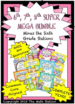 SUPER MEGA BUNDLE Minus Sixth Grade Stations