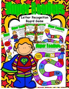 Back to School SUPER Readers Letter Recognition Board Game