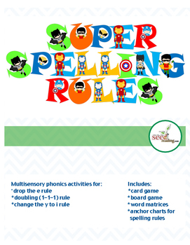 SUPER SPELLING RULES!{Doubling rule-Drop the e-Change the