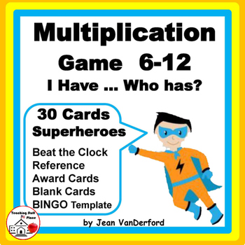 SUPERHERO MULTIPLICATION | Game | I have... Who has? |Grad