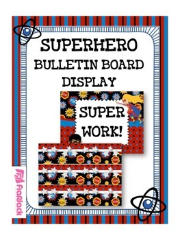 SUPERHERO Bulletin Board Set Display
