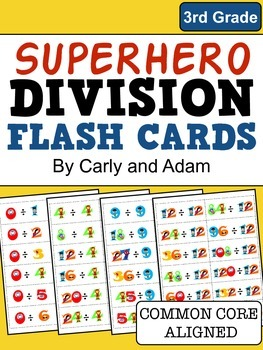 SUPERHERO DIVISION FLASH CARDS