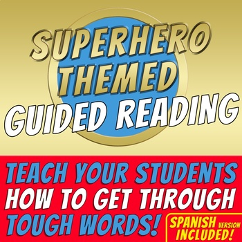 SUPERHERO THEMED - Guided Reading - 12 posters