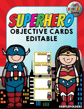 SUPERHERO OBJECTIVE CARDS
