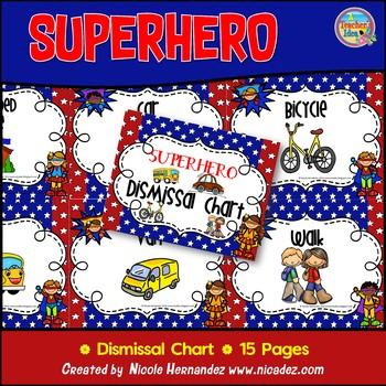 Dismissal Clip Chart {Superhero Themed}