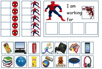 Autism: SUPERHERO TOKEN BOARDS (Spiderman, Batman, Hulk, a