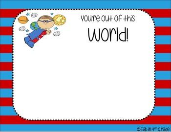 SUPERHERO Themed Positive Notecards