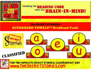 SUPERHERO VOWELS™ Headband Pack (from the SECRET STORIES®