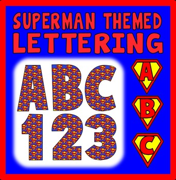 SUPERMAN THEMED LETTERS & NUMBERS - DISPLAY ALPHABET