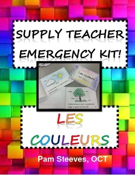 FRENCH SUPPLY TEACHER EMERGENCY KIT 6: LES COULEURS