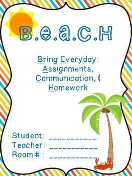 Student Binder (SURF and BEACH themed) Pack