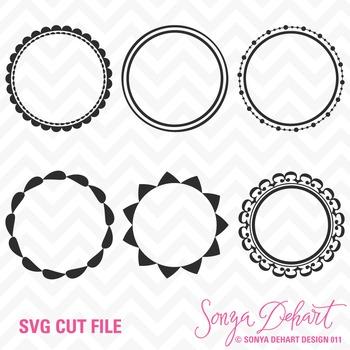 SVG Cuts and Clip Art Circle Frames Classroom Decor Silhou